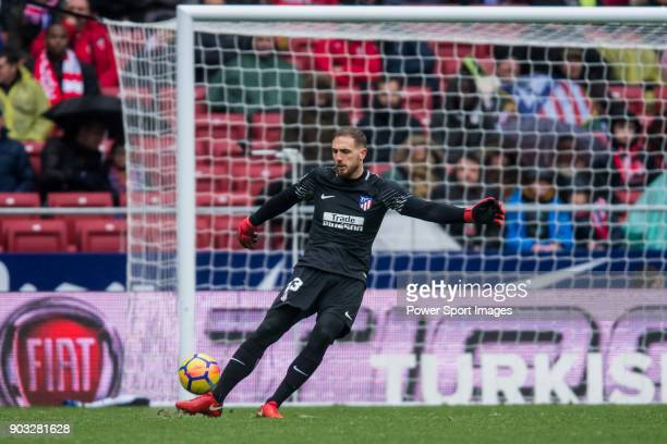 Goalkeeper Jan Oblak of Atletico de Madrid in action during the La Liga 201718 match between Atletico de Madrid and Getafe CF at Wanda Metropolitano...