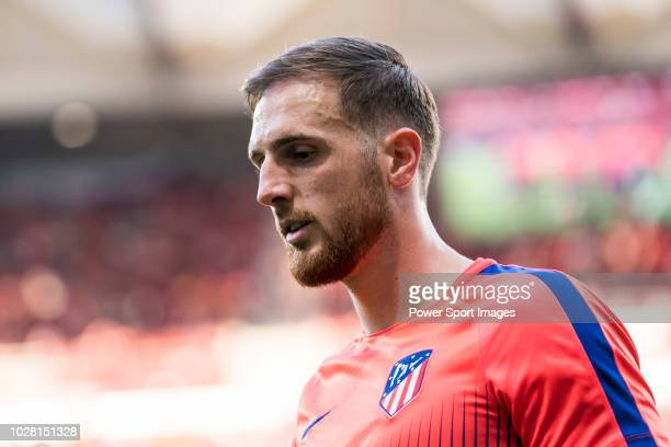 Goalkeeper Jan Oblak of Atletico de Madrid is seen prior to the La Liga 201819 match between Club Atletico de Madrid and Rayo Vallecano de Madrid at...