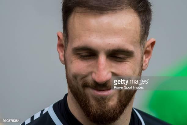 Goalkeeper Jan Oblak of Atletico de Madrid reacts prior to the La Liga 201718 match between Atletico de Madrid and Girona FC at Wanda Metropolitano...