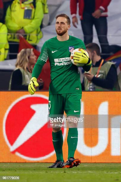 Goalkeeper Jan Oblak of Atletico Madrid controls the ball during the UEFA Europa League Final between Olympique de Marseille and Club Atletico de...