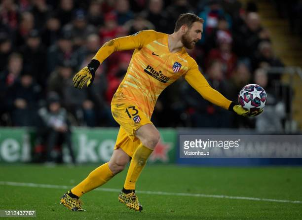 Goalkeeper Jan Oblak of Atletico Madrid during the UEFA Champions League round of 16 second leg match between Liverpool FC and Atletico Madrid at...