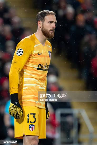 goalkeeper Jan Oblak of Atletico Madrid looks on during the UEFA Champions League round of 16 second leg match between Liverpool FC and Atletico...