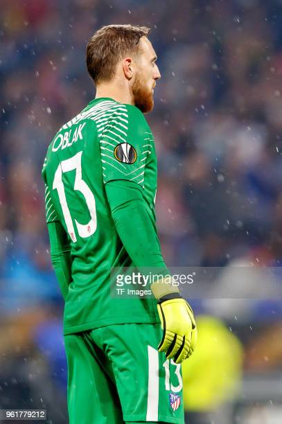 Goalkeeper Jan Oblak of Atletico Madrid looks on during the UEFA Europa League Final between Olympique de Marseille and Club Atletico de Madrid at...