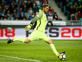 ljubljana slovenia goalkeeper oblak slovenia action