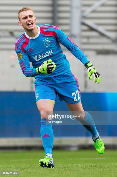 goalkeeper Jasper Cilissen of Ajax during the Dutch Eredivisie match between Excelsior Rotterdam and Ajax Amsterdam at Woudenstein stadium on...