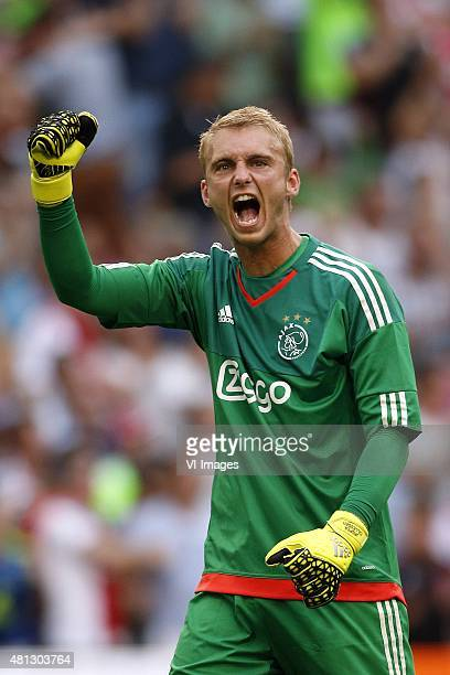 Goalkeeper Jasper Cillessen of Ajax during the preseason friendly match between Ajax Amsterdam and VfL Wolfsburg on July 17 2015 at the Amsterdam...