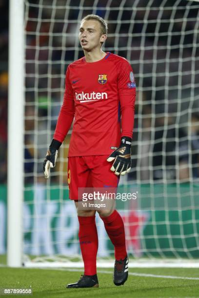 goalkeeper Jasper Cillessen of FC Barcelona during the UEFA Champions League group D match between FC Barcelona and Sporting Club de Portugal on...