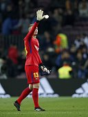 goalkeeper jasper cillessen fc barcelona during