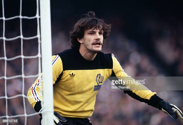 Goalkeeper Jean Castanada of France during the Republic of Ireland v France World Cup Qualiying match held in Dublin Ireland on the 14th October 1981