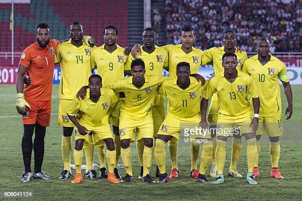 goalkeeper Jenimy Cravid S Sousa of San Tome e Principe Adimasr Vila Nova Das Neves of Sao Tome e Principe Jordao E Tackey Diogo of Sao Tome e...