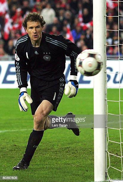 Goalkeeper Jens Lehmann of Germany in action during the international friendly match between Switzerland and Germany at the St JakobPark on March 26...