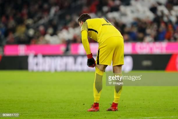 Goalkeeper Jiri Pavlenka of Bremen looks on during the Bundesliga match between FC Bayern Muenchen and SV Werder Bremen at Allianz Arena on January...