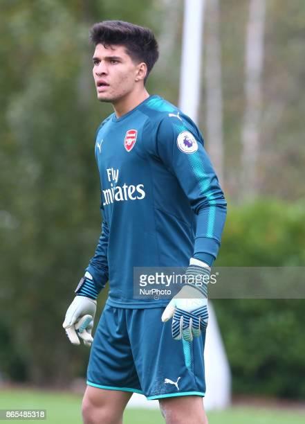 Goalkeeper Joao Virginia of Arsenal during Premier League 2 Div 1 match between Tottenham Hotspur Under 23s against Arsenal Under 23s at Tottenham...
