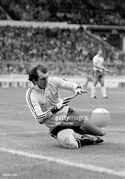 Goalkeeper Joe Corrigan of England during the England v Scotland British Championship match played at Wembley Stadium London on the 23rd May 1981...