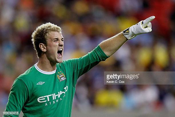 Goalkeeper Joe Hart Of Manchester City Against Club America During The 2010 Aarons International Soccer Challenge