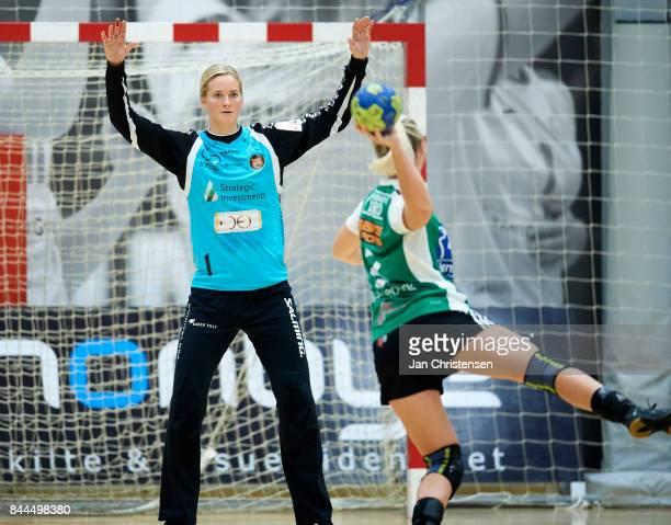 Goalkeeper Johanna Bundsen of Copenhagen Handball in action during the Danish HTH Go Ligaen match between Copenhagen Handball and Silkeborg Voel in...