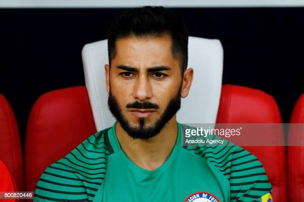 Goalkeeper Johnny Herrera of Chile is seen before the Confederations Cup 2017 match between Chile and Australia at Spartak Stadium in Moscow Russia...