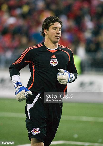 Goalkeeper Jon Conway of the New York Red Bulls looks on against the Toronto FC on May 1, 2008 at BMO Field in Toronto, Canada
