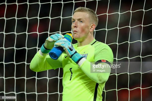 Goalkeeper Jordan Pickford of England during the international friendly match between England and Germany at Wembley Stadium on November 10 2017 in...