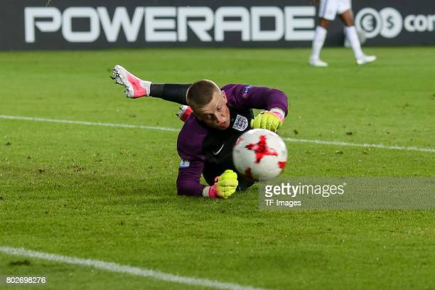 Goalkeeper Jordan Pickford of England in action during the UEFA European Under21 Championship Group A match between England and Poland at Kielce...