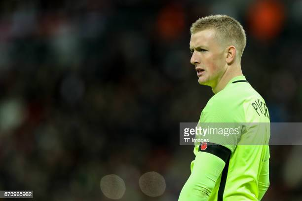 Goalkeeper Jordan Pickford of England looks on during the international friendly match between England and Germany at Wembley Stadium on November 10...