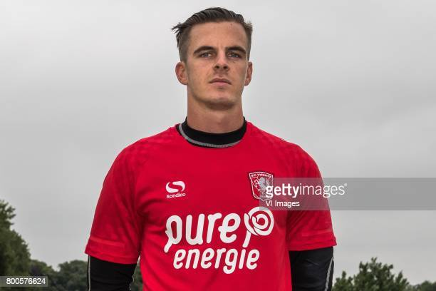 Goalkeeper Jorn Brondeel of FC Twenteduring a training session at Trainingscentrum Hengelo on June 24 2017 in Hengelo The Netherlands
