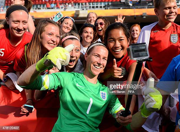Goalkeeper Karen Bardsley of England celebrates with fans after winning the FIFA Women's World Cup 2015 Round of 16 match between Norway and England...