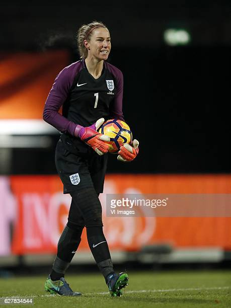 goalkeeper Karen Bardsley of Englandduring the friendly match between the women of Netherlands and England on November 29 2016 at the Koning Willem...