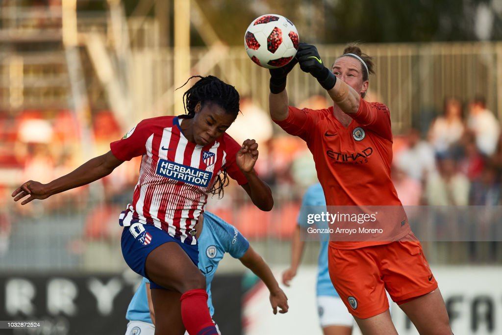 Atletico Madrid v Manchester City Women - UEFA Womens Champions League Round of 32: First Leg : News Photo