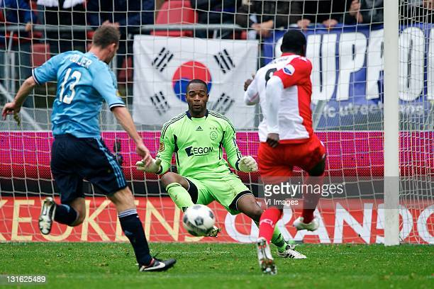 goalkeeper Kenneth Vermeer of Ajax during the Dutch Eredivisie match between FC Utrecht and Ajax Amsterdam at De Galgenwaard November 6 2011 in...