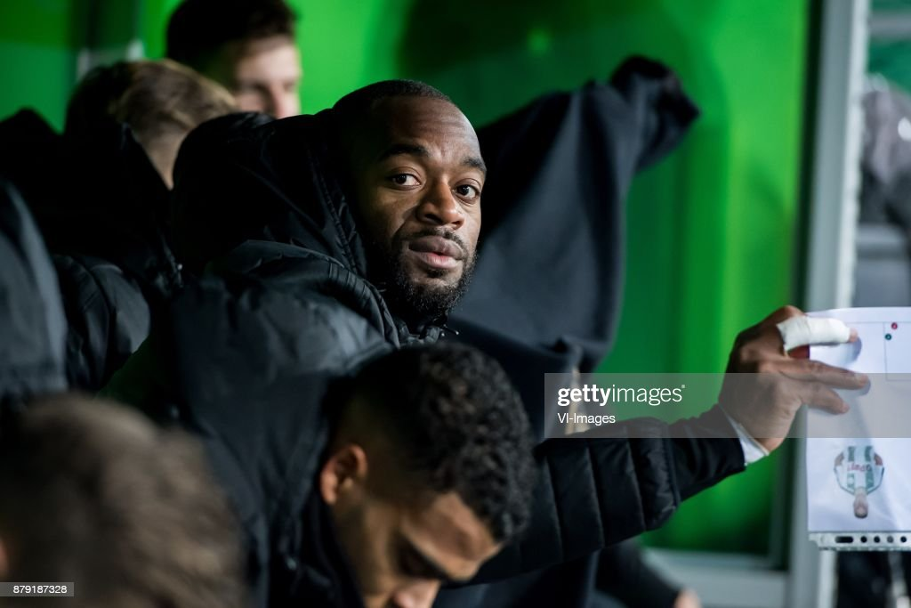 goalkeeper Kenneth Vermeer of Feyenoord during the Dutch Eredivisie match between FC Groningen and Feyenoord Rotterdam at Noordlease stadium on November 25, 2017 in Groningen, The Netherlands