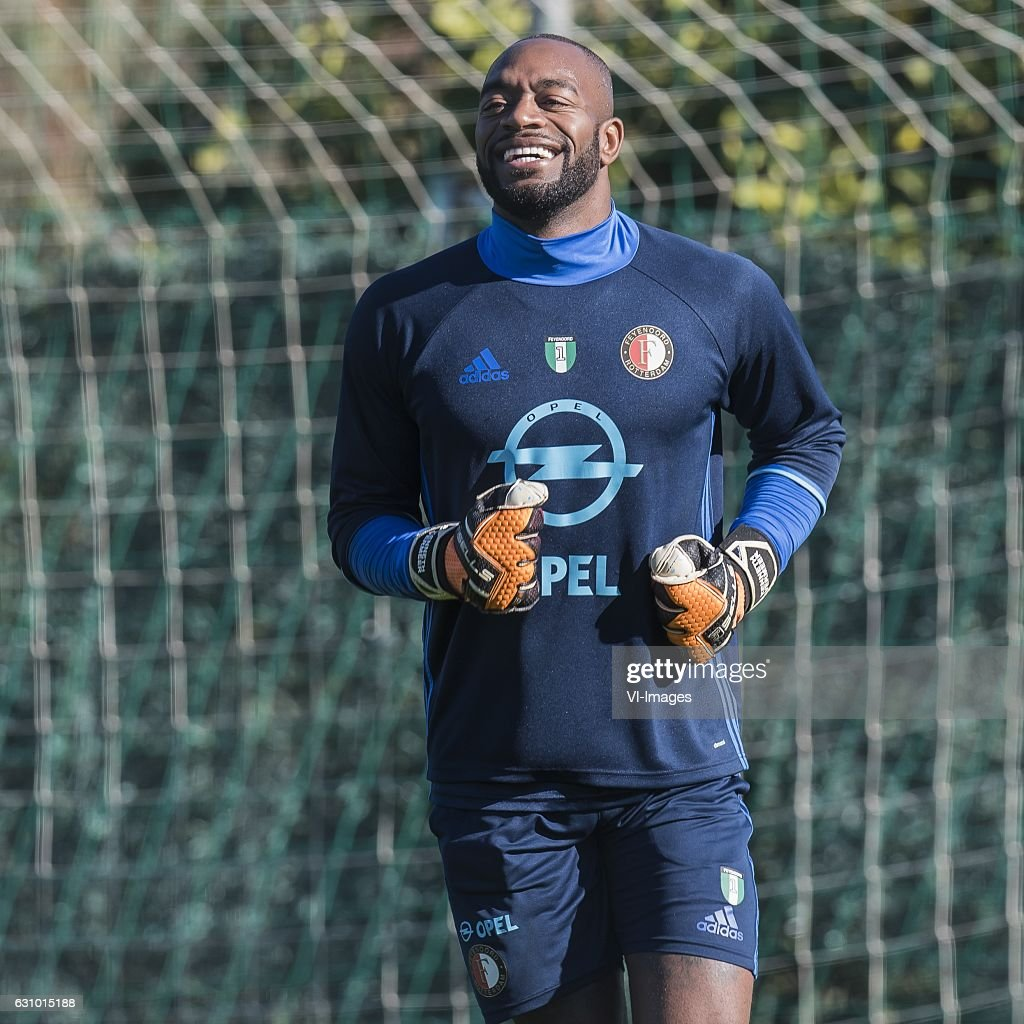 Goalkeeper Kenneth Vermeer of Feyenoordduring a trainings session of Feyenoord Rotterdam at the Municipal de Marbella stadium on January 05, 2016 in Marbella, Spain