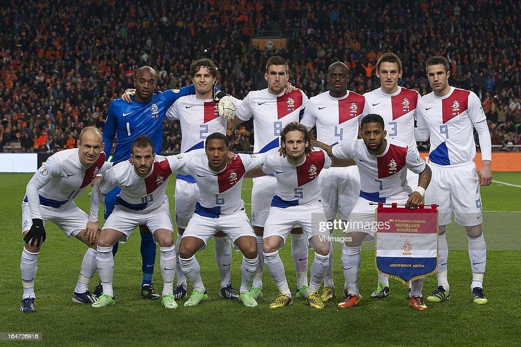 Goalkeeper Kenneth Vermeer Of Holland, Daryl Janmaat Of