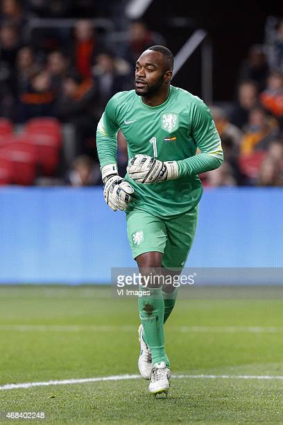 Goalkeeper Kenneth Vermeer of Holland during the International friendly match between Netherlands and Spain on March 31 2015 at the Amsterdam Arena...