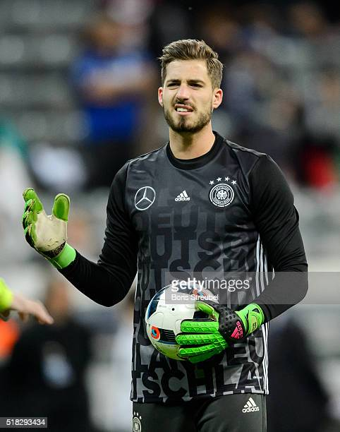 Goalkeeper Kevin Trapp of Germany looks on prior to the International Friendly match between Germany and Italy at Allianz Arena on March 29 2016 in...
