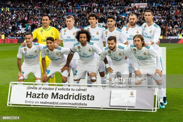 goalkeeper Keylor Navas Gamboa of Real Madrid Toni Kroos of Real Madrid Jesus Vallejo of Real Madrid Marco Asensio of Real Madrid Karim Benzema of...
