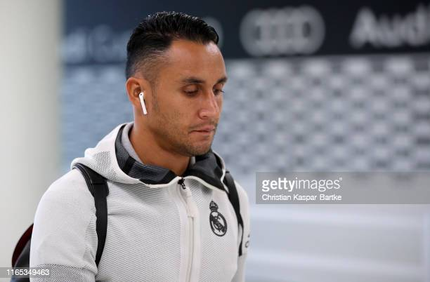 Goalkeeper Keylor Navas of Real Madrid arrives for the Audi cup 2019 3rd place match between Real Madrid and Fenerbahce at Allianz Arena on July 31,...