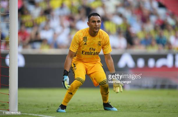 Goalkeeper Keylor Navas of Real Madrid in action during the Audi cup 2019 semi final match between Real Madrid and Tottenham Hotspur at Allianz Arena...