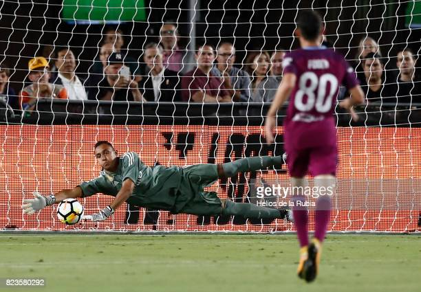 Goalkeeper Keylor Navas of Real Madrid in action during the International Champions Cup 2017 match between Manchester City v Real Madrid at Memorial...