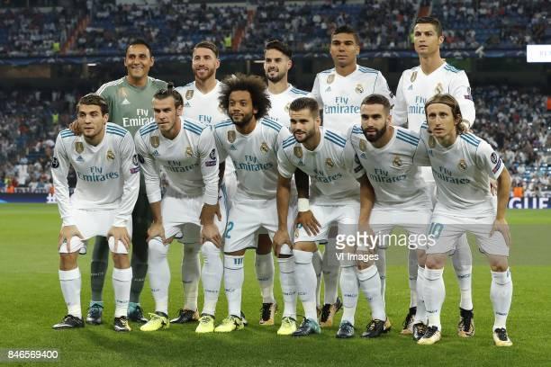 goalkeeper Keylor Navas of Real Madrid Sergio Ramos of Real Madrid Isco of Real Madrid Casemiro of Real Madrid Cristiano Ronaldo of Real Madrid Mateo...