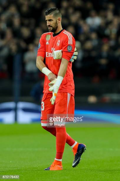 goalkeeper Kiko Casilla of Real Madrid looks on during the UEFA Champions League group H match between Tottenham Hotspur and Real Madrid at Wembley...