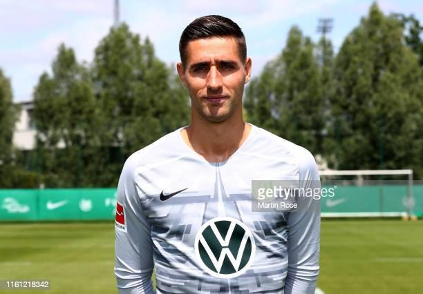 Goalkeeper Koen Casteels of VfL Wolfsburg poses during the team presentation on July 10 2019 in Wolfsburg Germany