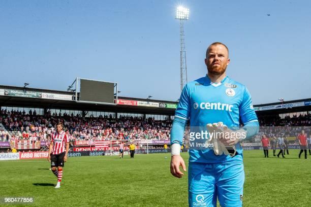 goalkeeper Leonard Nienhuis of Sparta Rotterdam during the Dutch Jupiler League playoffs final match between Sparta Rotterdam and FC Emmen at the...