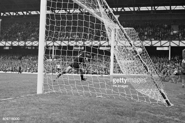 USSR goalkeeper Lev Yashin is beaten by West Germany's second goal scored by Franz Beckenbauer