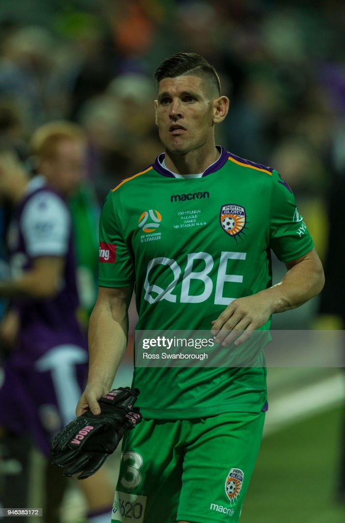 Goalkeeper Liam Reddy of the Glory on his 250th game at nib Stadium on April 14, 2018 in Perth, Australia.