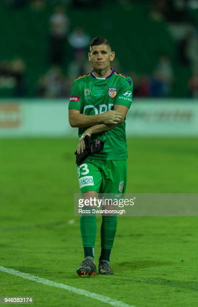 Goalkeeper Liam Reddy of the Glory on his 250th game at nib Stadium on April 14 2018 in Perth Australia
