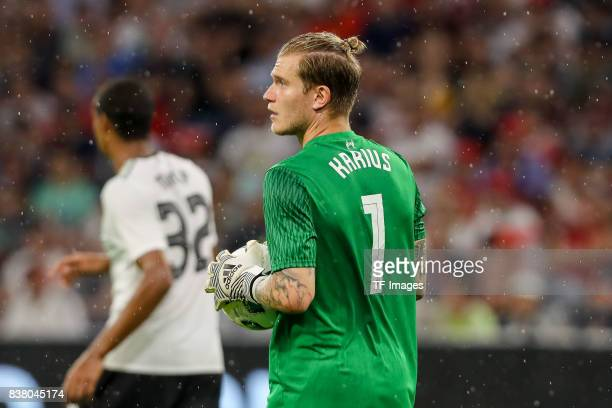 Goalkeeper Loris Karius of Liverpool looks on during the Audi Cup 2017 match between Bayern Muenchen and Liverpool FC at Allianz Arena on August 1...