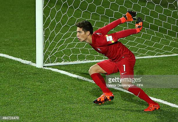 Goalkeeper Luca Zidane of France in gets ready for the Paraguay penalty kick during the Paraguay v France Group F FIFA U17 World Cup Chile 2015 match...