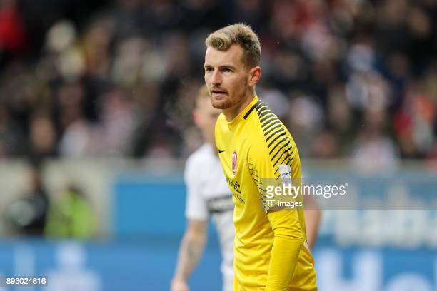 Goalkeeper Lukas Hradecky of Frankfurt looks on during the Bundesliga match between Eintracht Frankfurt and FC Bayern Muenchen at CommerzbankArena on...