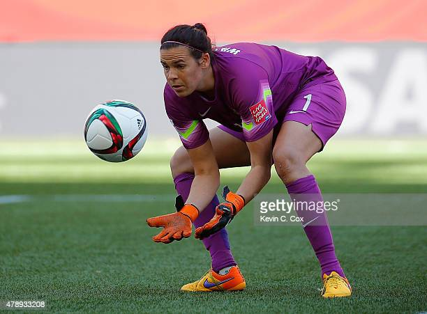 Goalkeeper Lydia Williams of Australia against Nigeria during the FIFA Women's World Cup Canada 2015 match between Australia and Nigeria at Winnipeg...